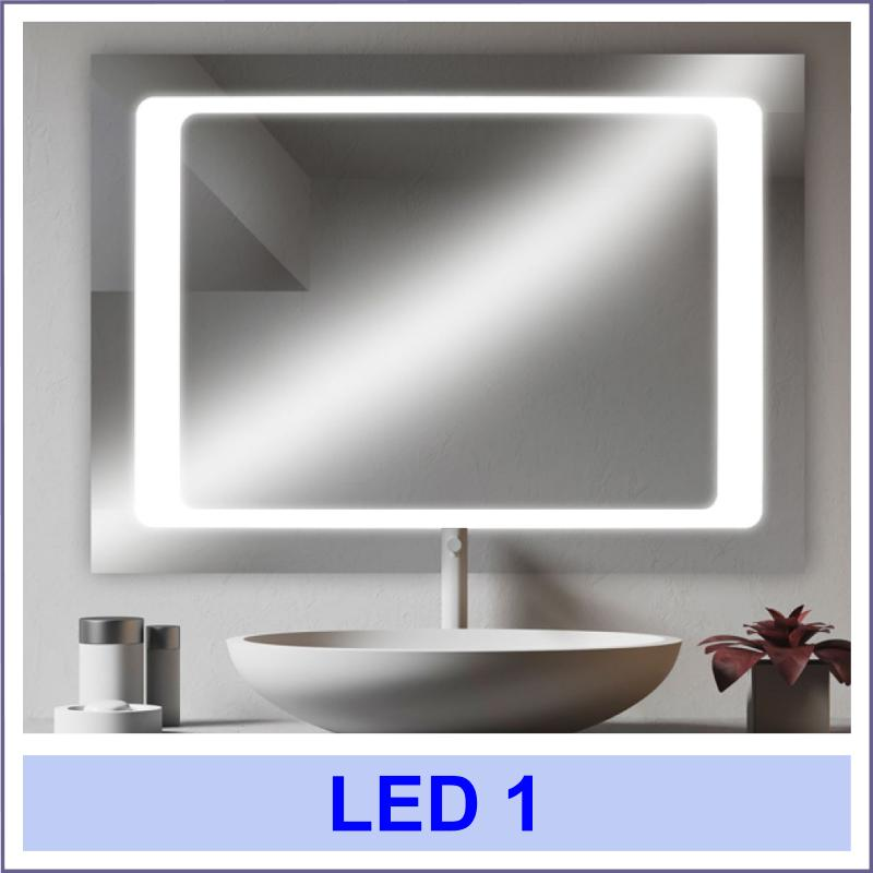 led 1 2 Дзеркала з LED підсвіткою