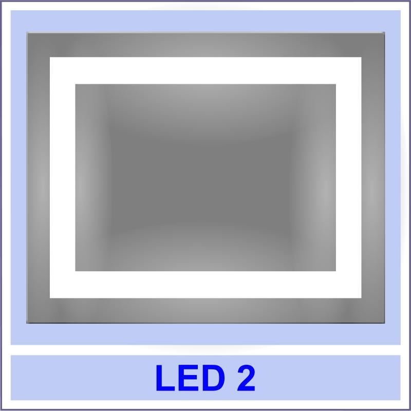 led 2 Дзеркала з LED підсвіткою