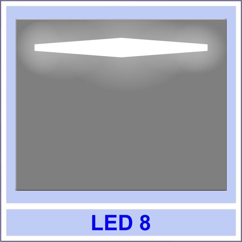 led 8 Дзеркала з LED підсвіткою